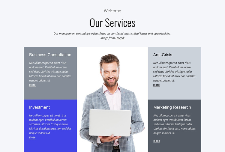 Financial services One Page Template