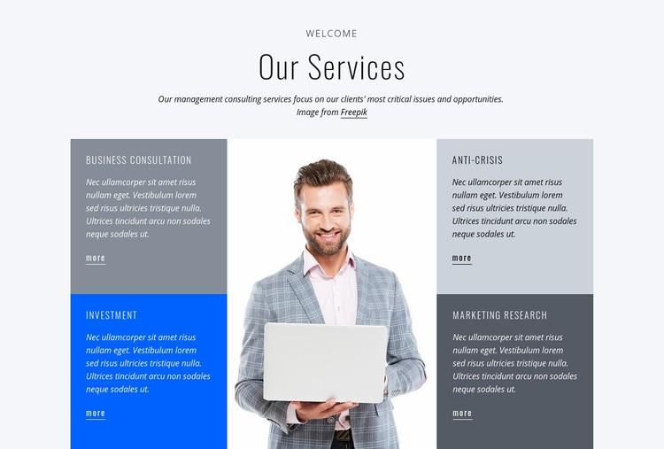 Financial services Web Page Design