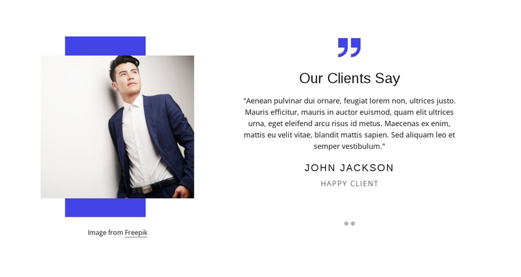 Our clients say One Page Template