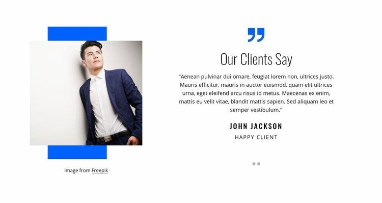 Our clients say Web Page Design
