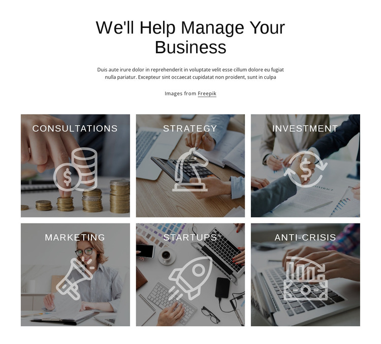We help to manage your business WordPress Theme