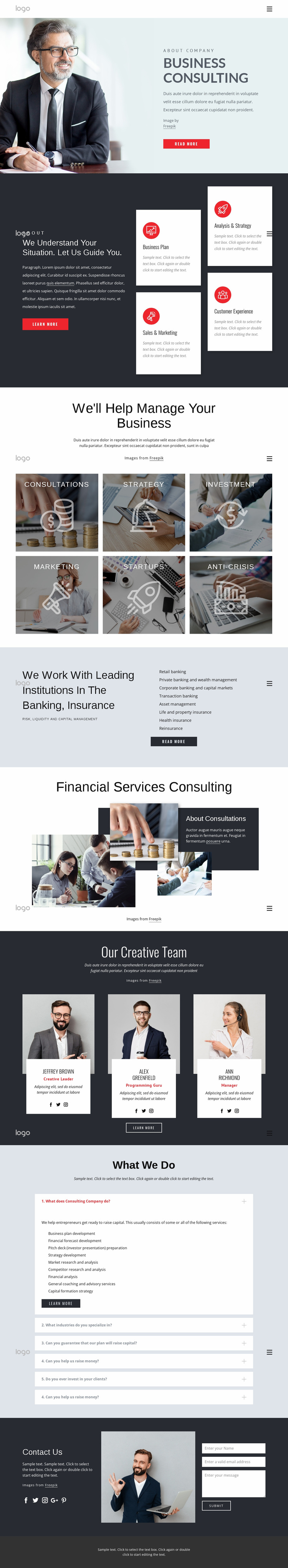 Successful financial strategy Website Design