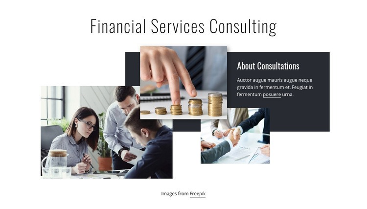 Financial services consulting Html Code Example