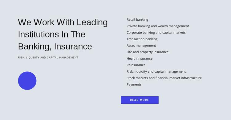 Financial management HTML Template