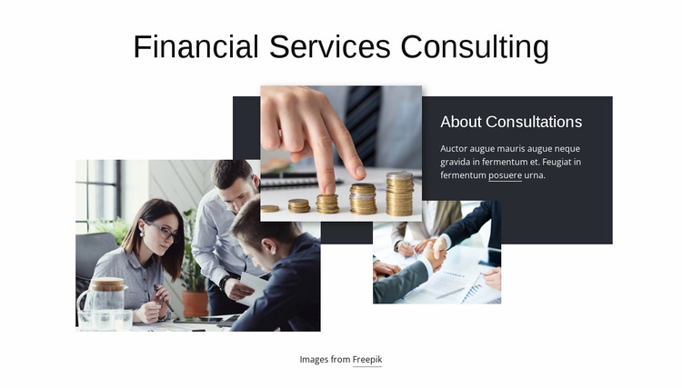 Financial services consulting Website Mockup