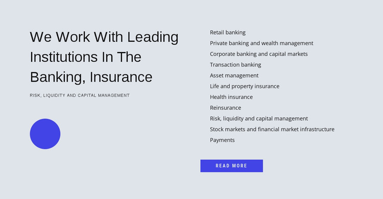 Financial management Website Mockup