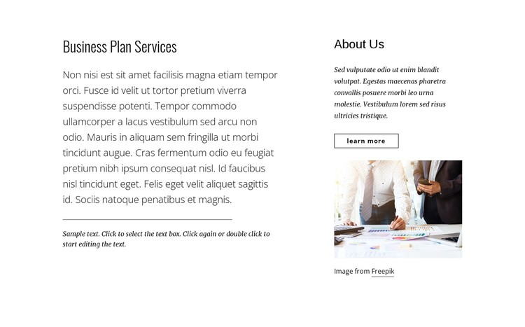 Business plan services CSS Template
