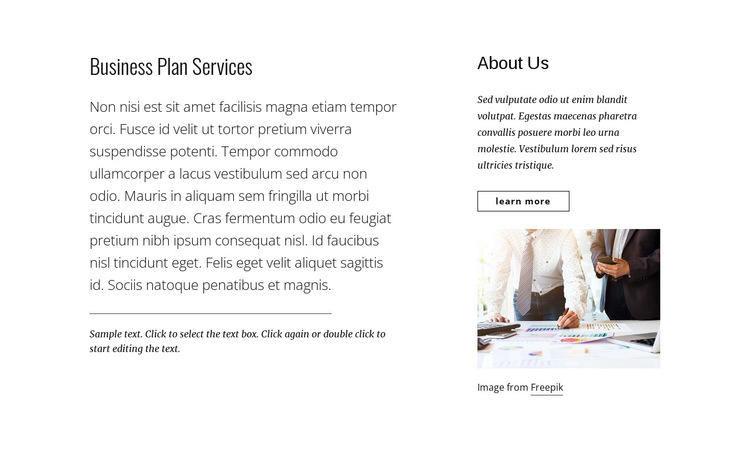 Business plan services HTML5 Template
