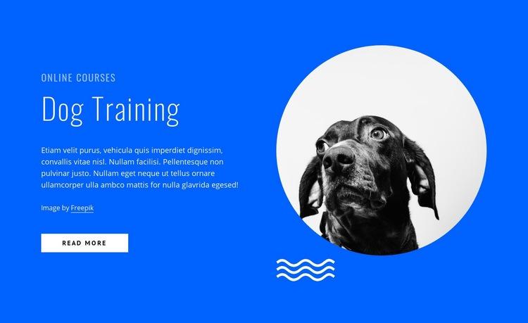 Dog training courses online Web Page Design