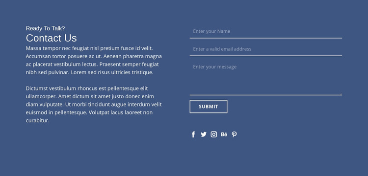 Ready to talk Website Design