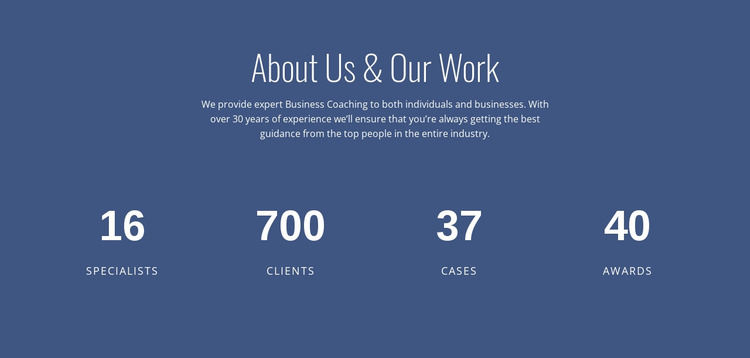 About business consulting Website Mockup