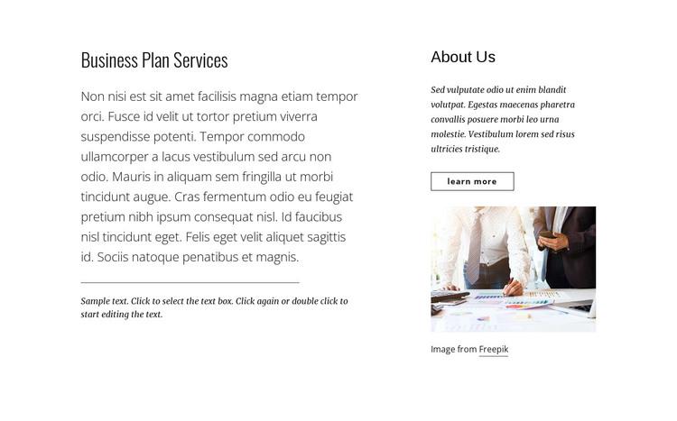 Business plan services WordPress Theme