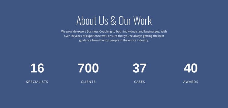 About business consulting WordPress Website Builder