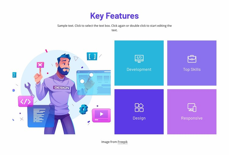 We create innovative products Html Code Example
