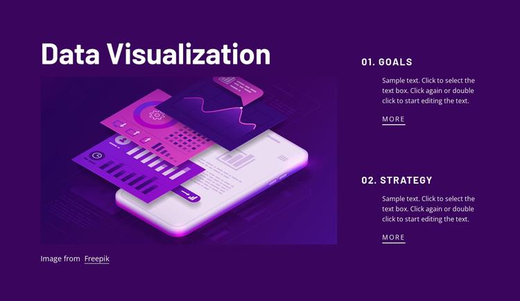 Data visualization HTML Template