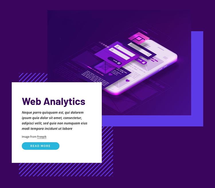 Web analytics Joomla Page Builder