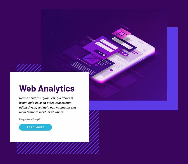 Web analytics Website Mockup