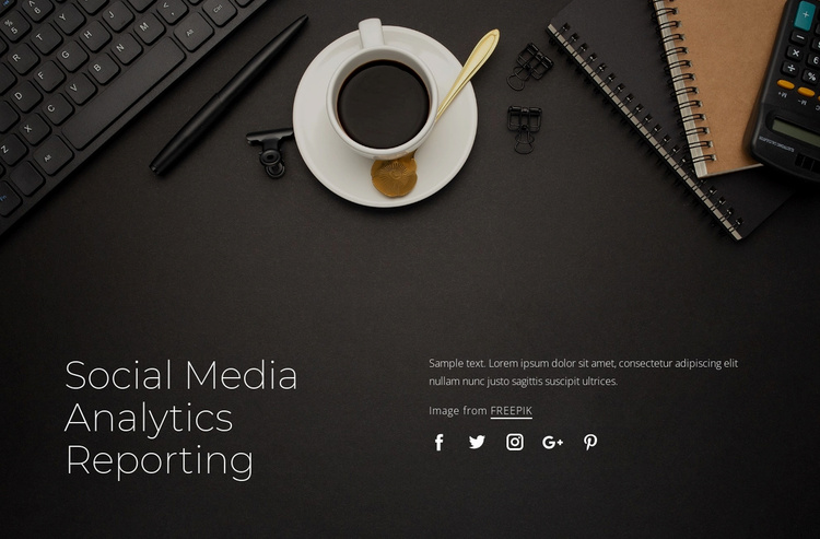 Social media analytics reporting Website Template