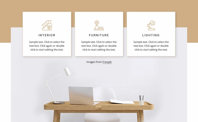 Home office interior Website Template