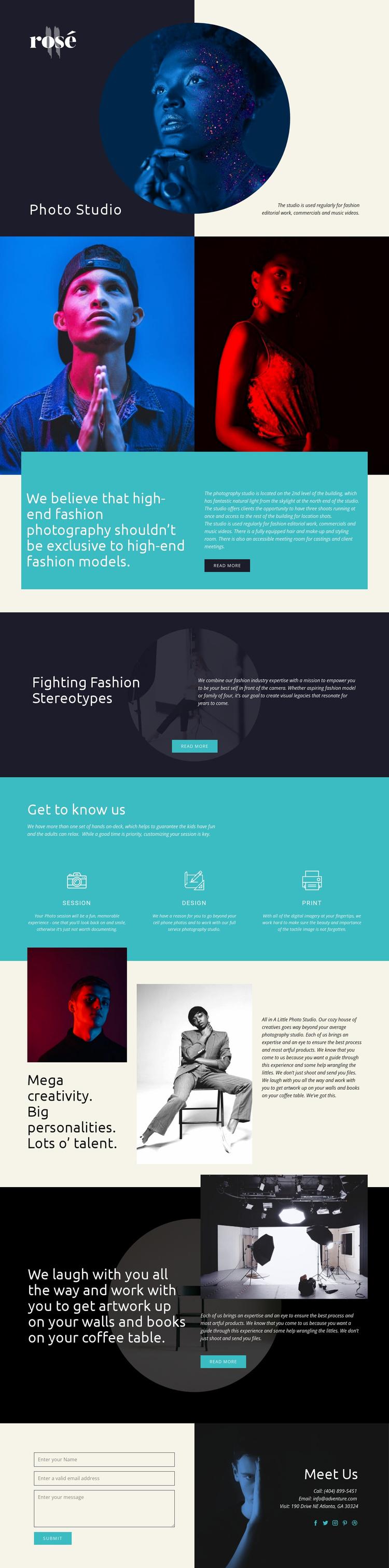 Rose Website Template