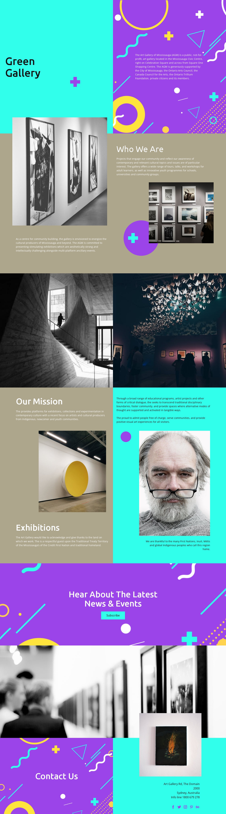Gallery of fashion photographers One Page Template