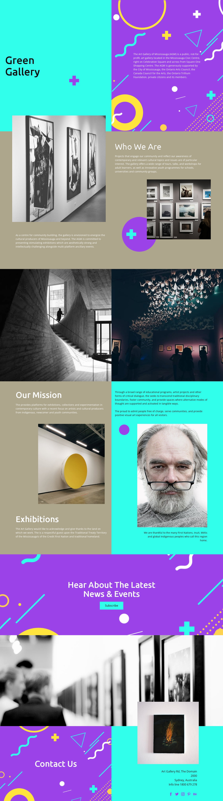 Green Gallery Landing Page