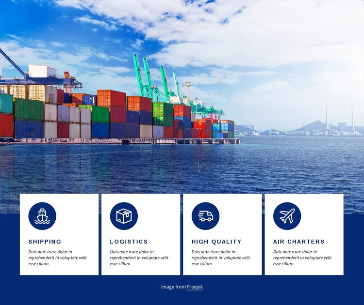 Smart logistics Html Code Example