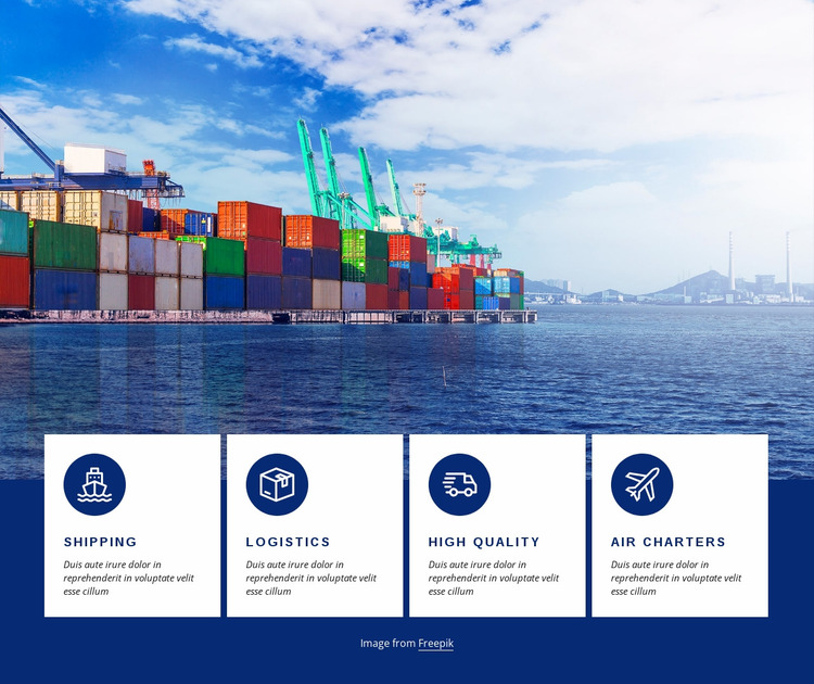 Smart logistics Website Mockup