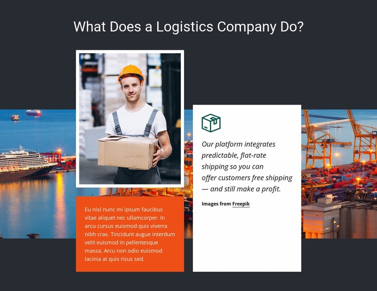Logistics company Web Page Design