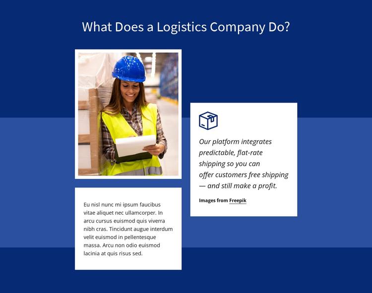 Transport logistics Website Builder Software