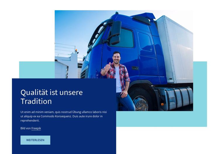 Tracking und Verwaltung Website-Vorlage