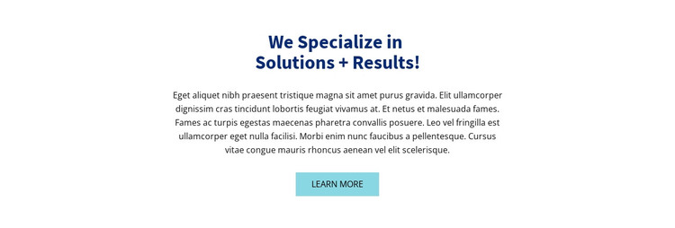 Colored headline and text HTML Template