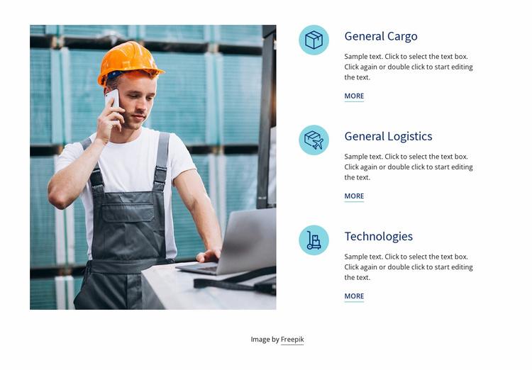 Road transport logistics Website Template