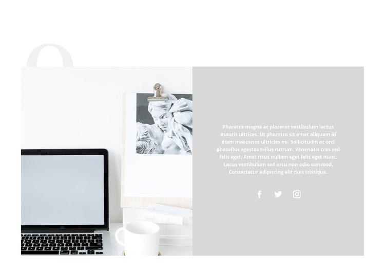 Zarządzanie czasem w biznesie Szablon witryny sieci Web