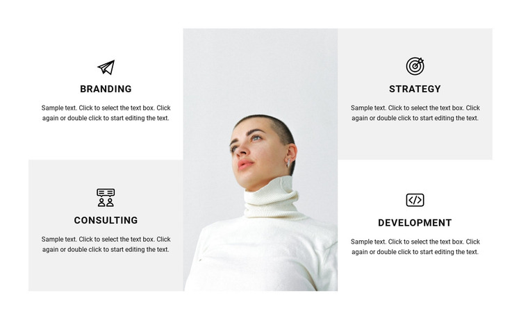 Directions of work in the studio HTML Template