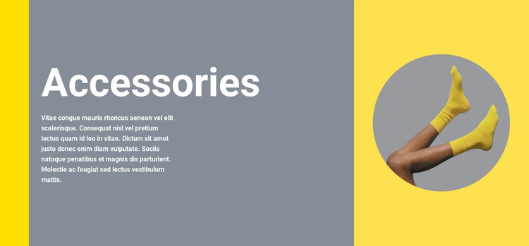 Clothing accessories HTML Template