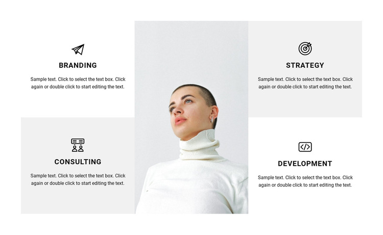 Directions of work in the studio HTML5 Template