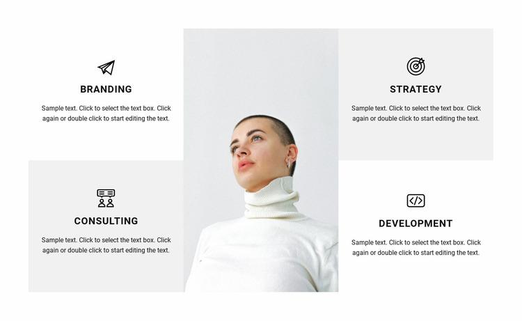 Directions of work in the studio Website Mockup