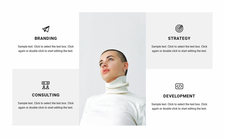Directions of work in the studio Landing Page