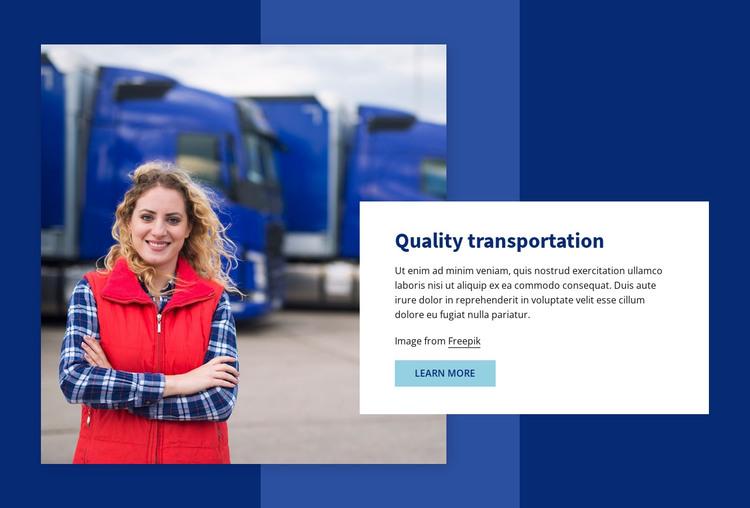 Quality transportation HTML Template