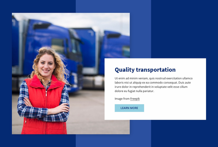 Quality transportation WordPress Website Builder