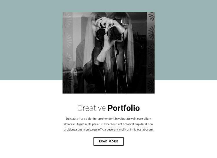 Illustrator's portfolio HTML Template