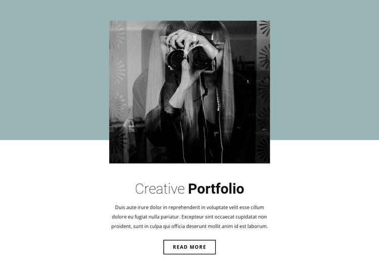 Illustrator's portfolio One Page Template