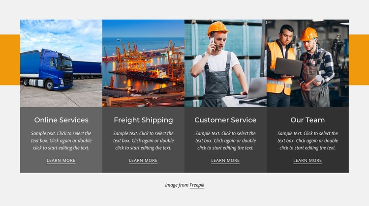 Local and domestic trucking Web Page Design