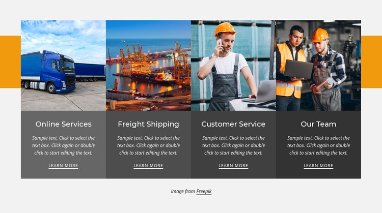 Local and domestic trucking Web Page Designer