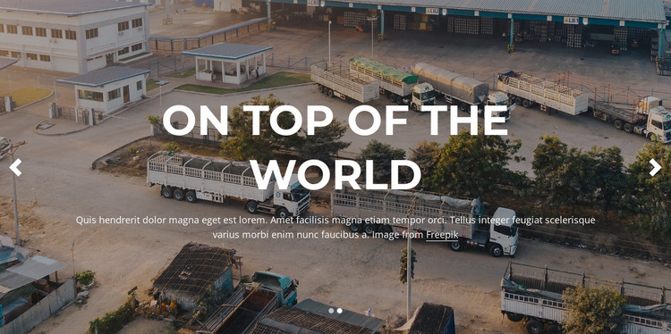Best managed transportation services Website Mockup