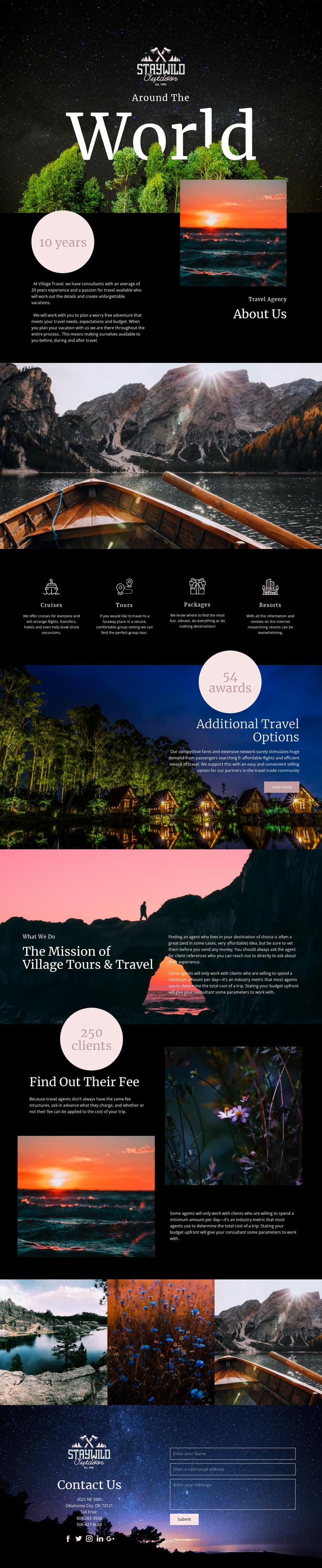 Around the World Website Template