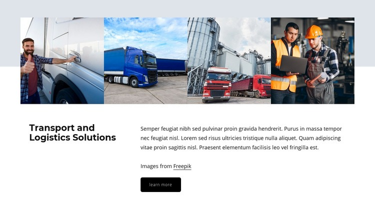 Logistic solutions Web Page Design