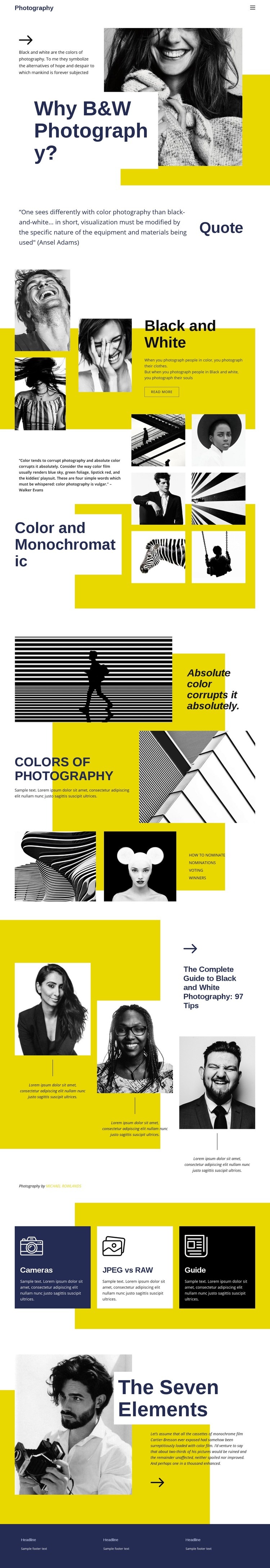Photography Blog WordPress Template