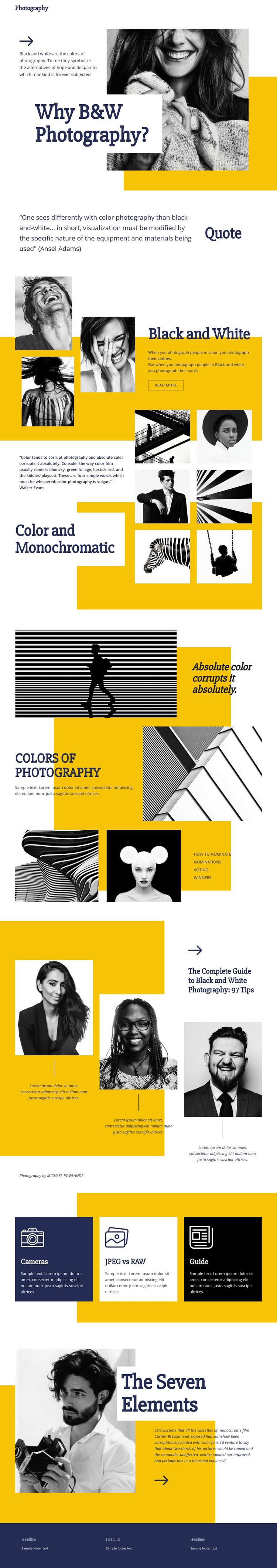 Photography Blog WordPress Website